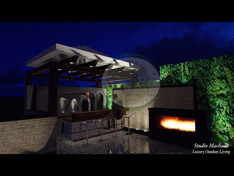 Residential Terrace Garden Design Modern garden by Studio Machaan Modern