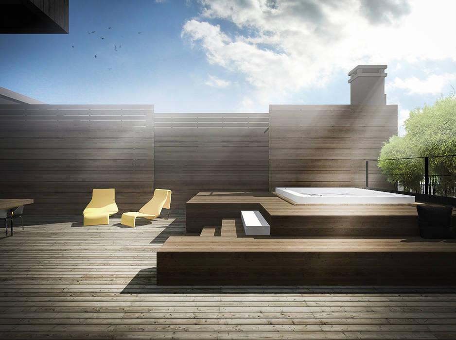 Balcones y terrazas de estilo minimalista de Didonè Comacchio Architects Minimalista