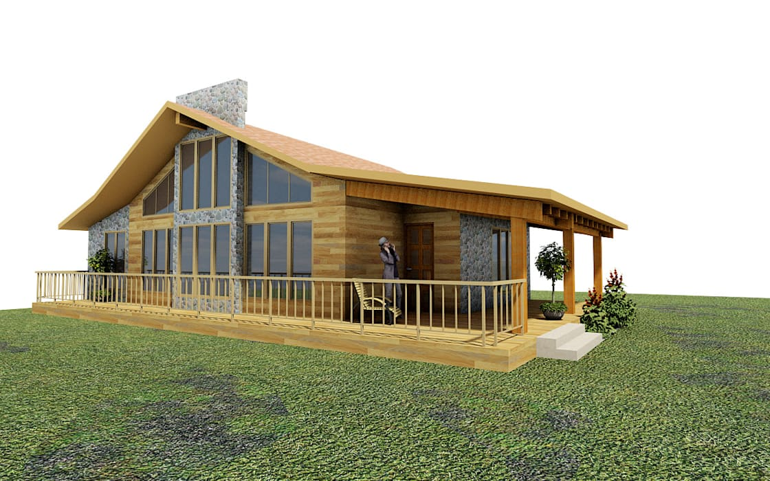 Rustic style house by URBVEL Constructora e Inmobiliaria Rustic