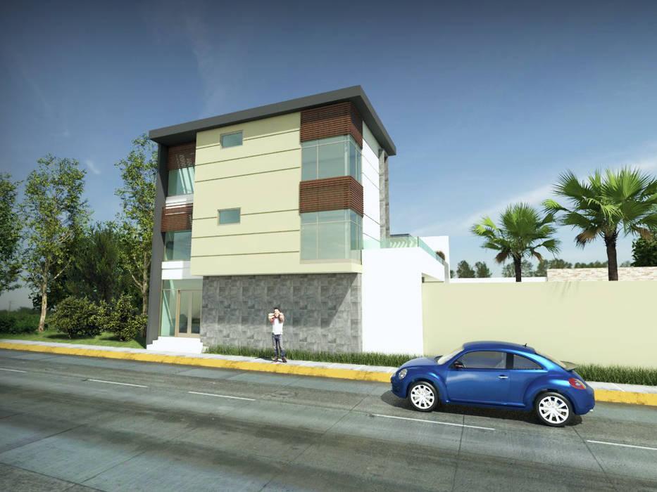Maisons modernes par URBVEL Constructora e Inmobiliaria Moderne