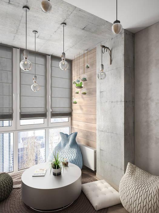 Зона для чтения у окна: Гостиная в . Автор – Tatiana Zaitseva Design Studio,
