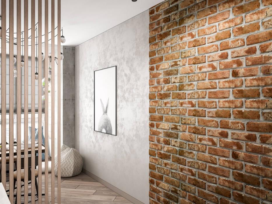 Гостиная в стиле лофт: Гостиная в . Автор – Tatiana Zaitseva Design Studio