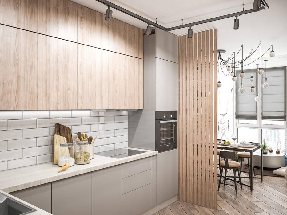Светлая дизайнерская кухня: Кухни в . Автор – Tatiana Zaitseva Design Studio