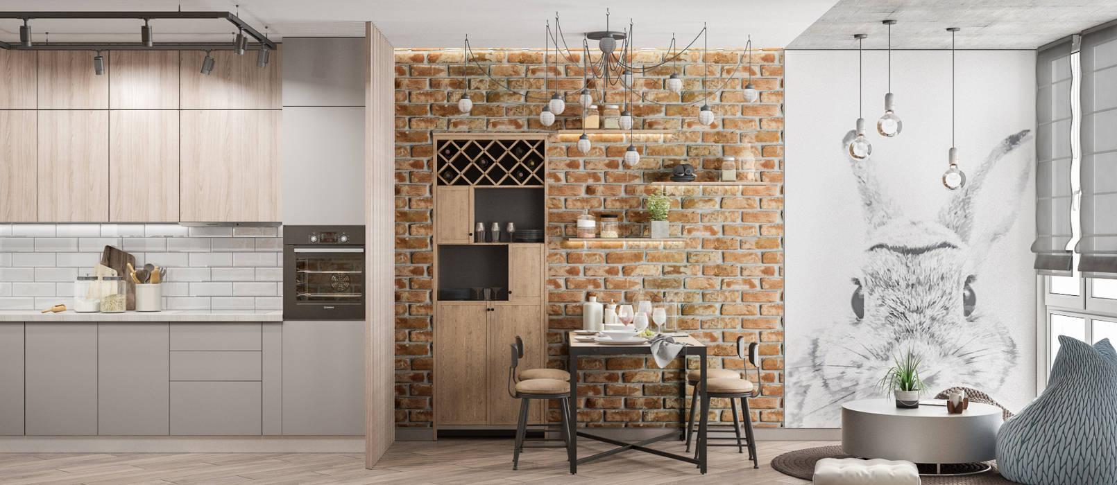 Винный шкаф в интерьере: Кухни в . Автор – Tatiana Zaitseva Design Studio