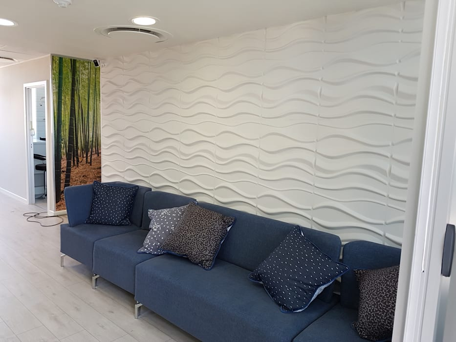 3D Wall Decor by Leone Truter Interiors Modern Bamboo Green