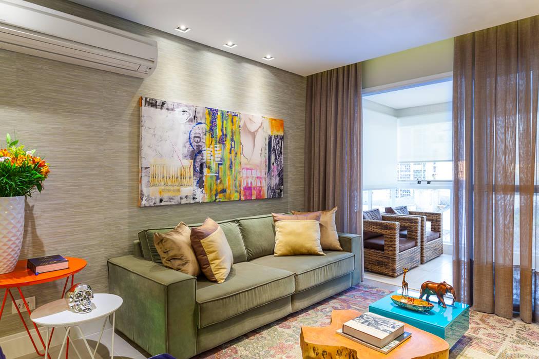 Livings de estilo moderno de Casa 27 Arquitetura e Interiores Moderno