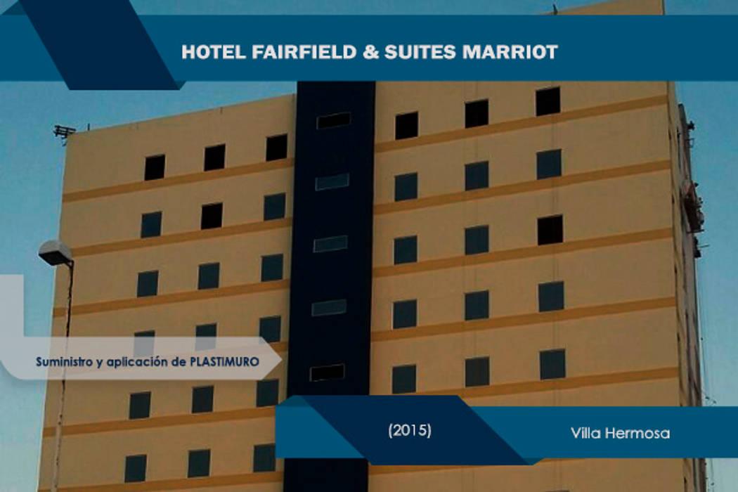 Fairfield & Suites Marriott Villahermosa Tabasco: Casas de estilo moderno por IPY, S.A.