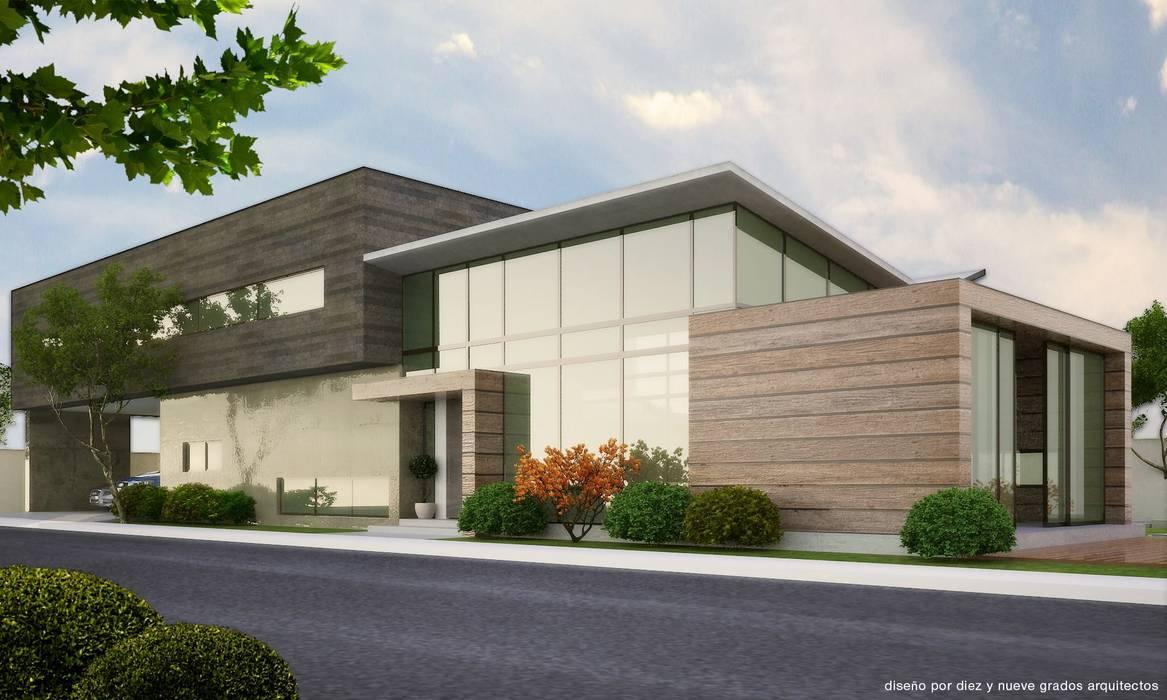 Fachada Principal 2013: Casas de estilo moderno por Diez y Nueve Grados Arquitectos