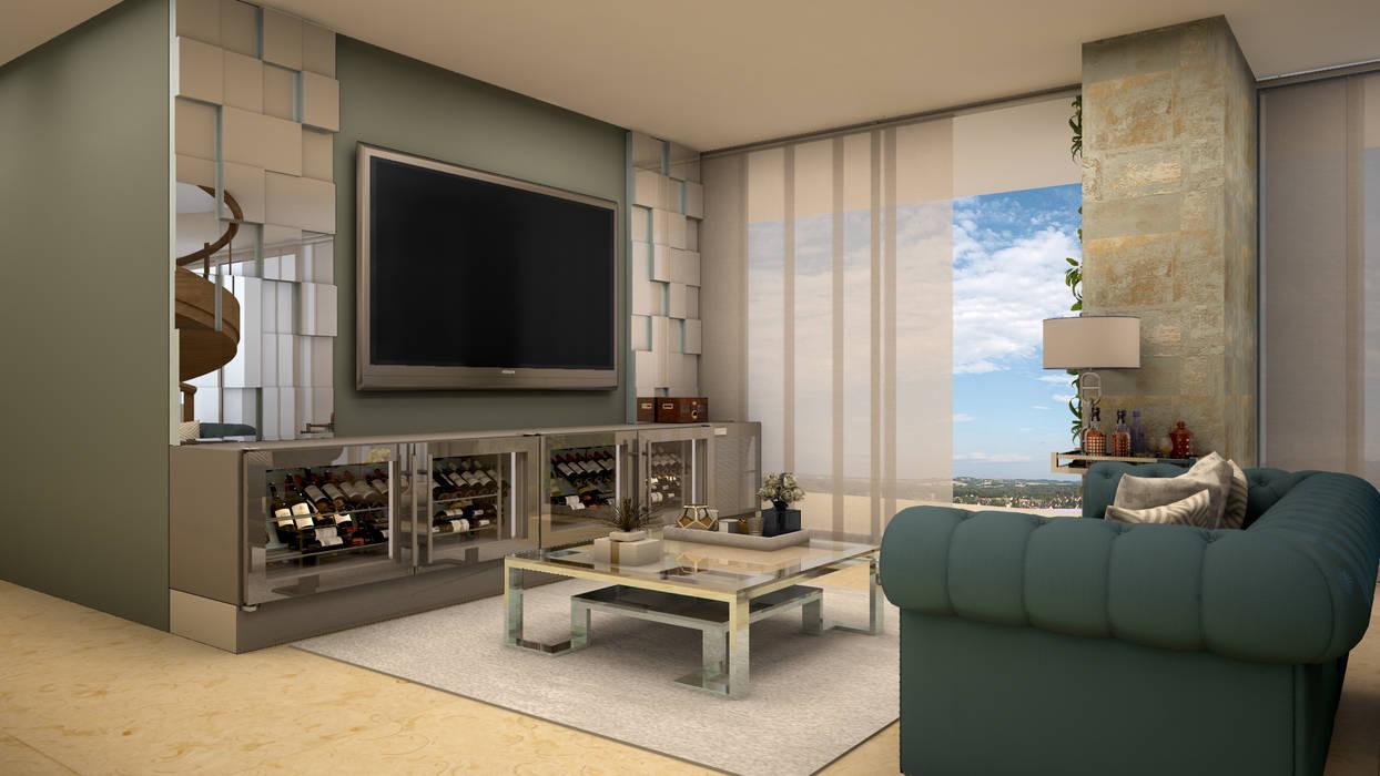 Ruang Multimedia oleh CONTRASTE INTERIOR, Klasik