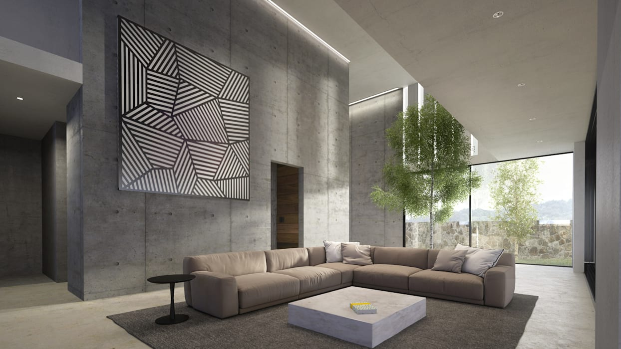 by HAC Arquitectura Modern Concrete