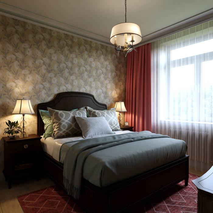 Дизайн-проект квартиры для женщины: Спальни в . Автор – Антон Булеков