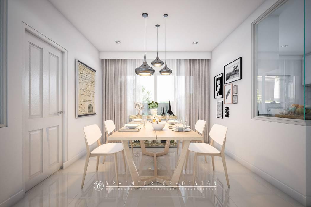 โครงการออกแบบตกแต่งภายในบ้านพักอาศัย 2 ชั้นGolden NEO บางนา:   โดย YPinteriorDesign,