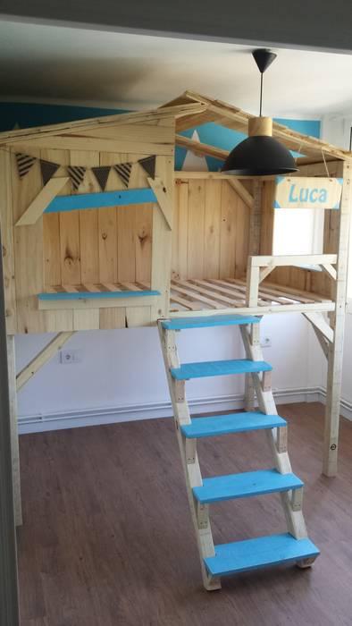 0f0aa4e802521 Cama casita del arbol de madera  Habitaciones infantiles de estilo de Mind  Made -