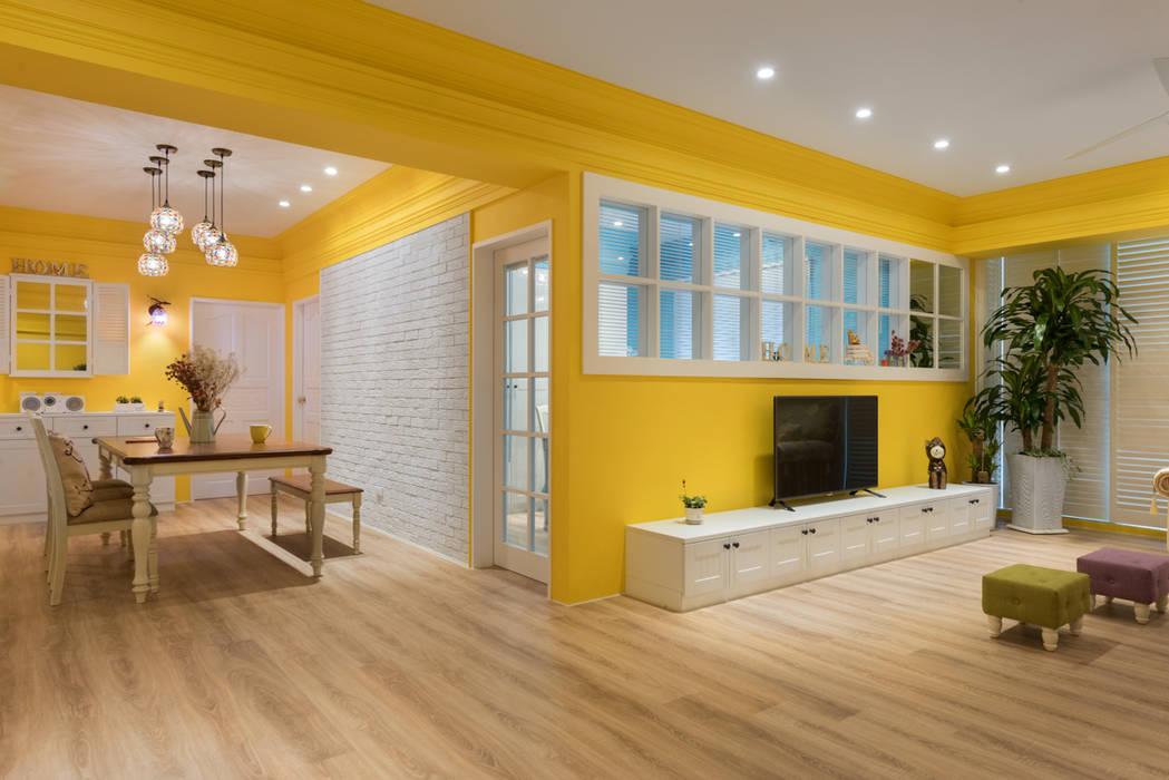 色彩宮殿 Temperature of color 根據 Glocal Architecture Office (G.A.O) 吳宗憲建築師事務所/安藤國際室內裝修工程有限公司 鄉村風