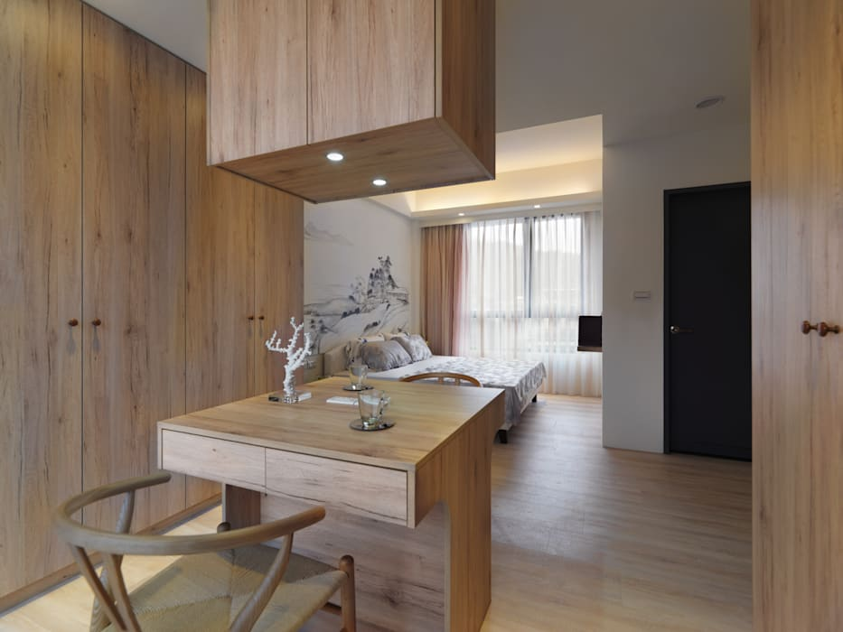 Asian style bedroom by Glocal Architecture Office (G.A.O) 吳宗憲建築師事務所/安藤國際室內裝修工程有限公司 Asian