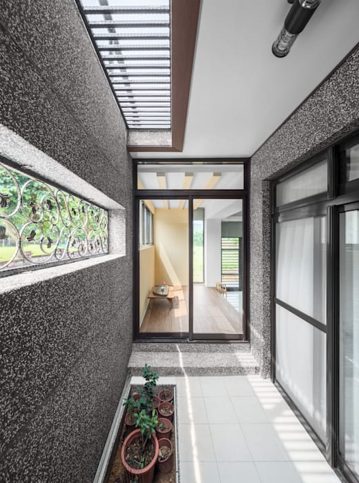 綠森活 Living in a Green Forest:  露臺 by Glocal Architecture Office (G.A.O) 吳宗憲建築師事務所/安藤國際室內裝修工程有限公司