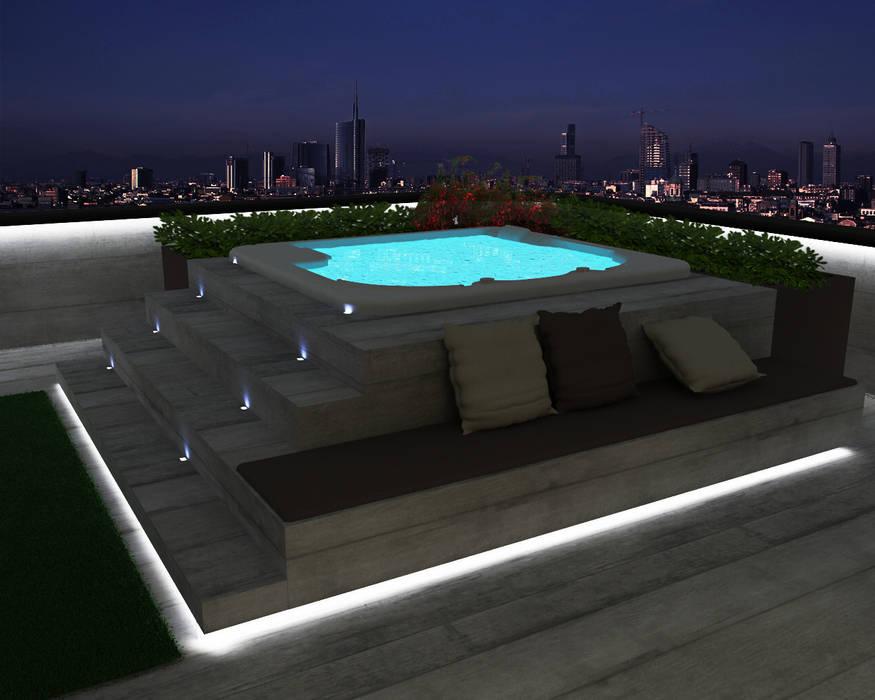Ristrutturazione appartamento Desio (in corso): Terrazza in stile  di Cappelletti Architetti,