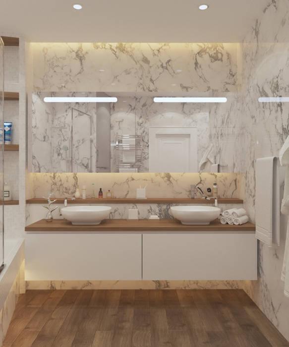 Квартира в Сочи Flatsdesign Ванная комната в стиле модерн