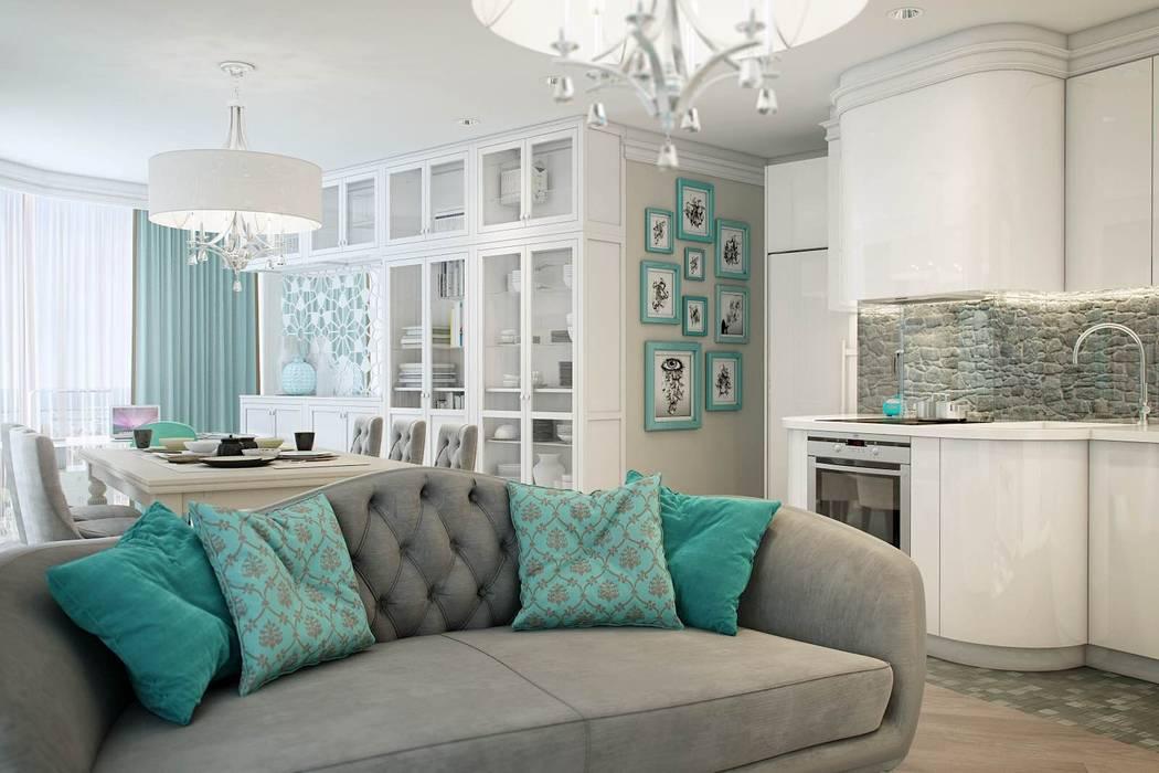 Квартира в Сочи Гостиная в стиле модерн от Flatsdesign Модерн