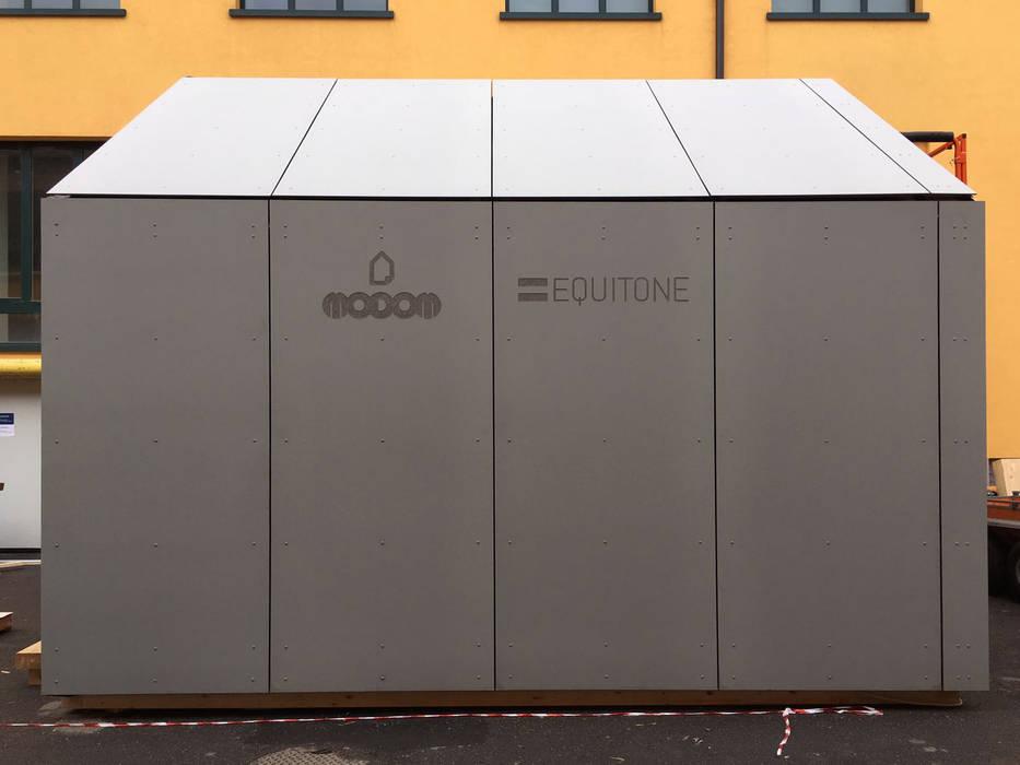 Microarch Smarthome | #fuorisalone Milano Case in stile scandinavo di MODOM srl Scandinavo Cemento