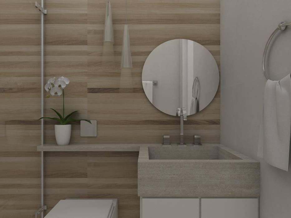 UNUM - ARQUITETURA E ENGENHARIAが手掛けた浴室,