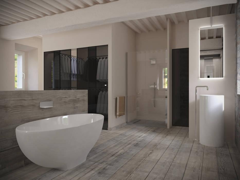 Design Bagno 2016 : Torre anno 1000 recupero tuscany 2016: bagno in stile in stile