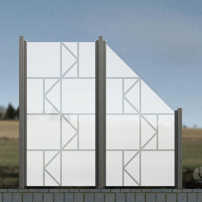 Glaszaun Zaun Aus Glas Als Wind Und Sichtschutz Für