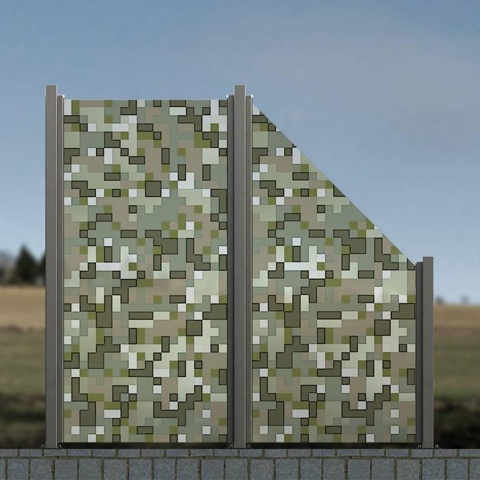 Glaszaun Zaun Aus Glas Als Wind Und Sichtschutz Fur