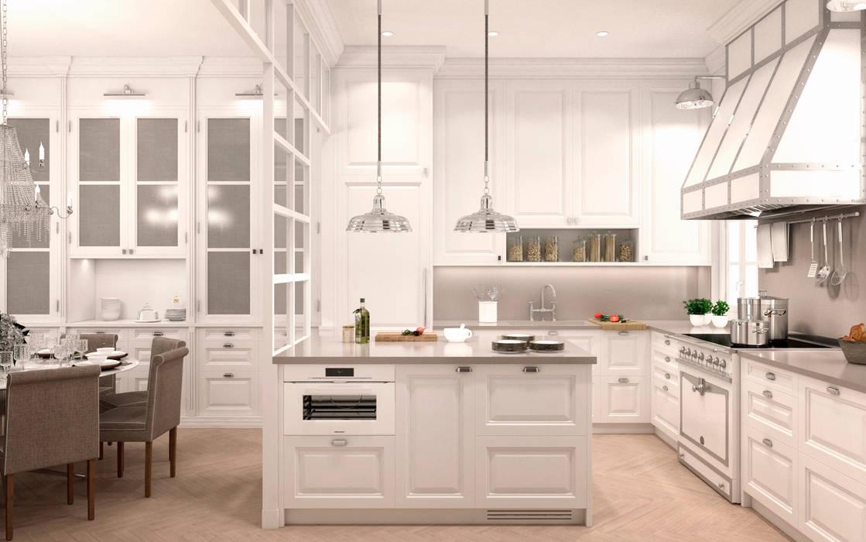 Residencial Jose Ortega y Gasset: Cocinas de estilo  de DISIGHT, Clásico