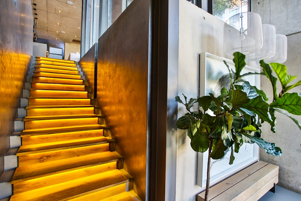 House Pautz Modern Corridor, Hallway and Staircase by homify Modern Wood Wood effect