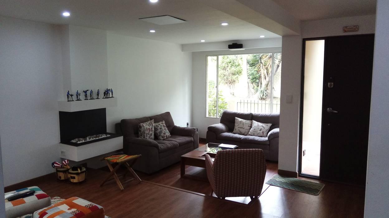 Remodelación casa Bogota Moderne Wohnzimmer von Erick Becerra Arquitecto Modern