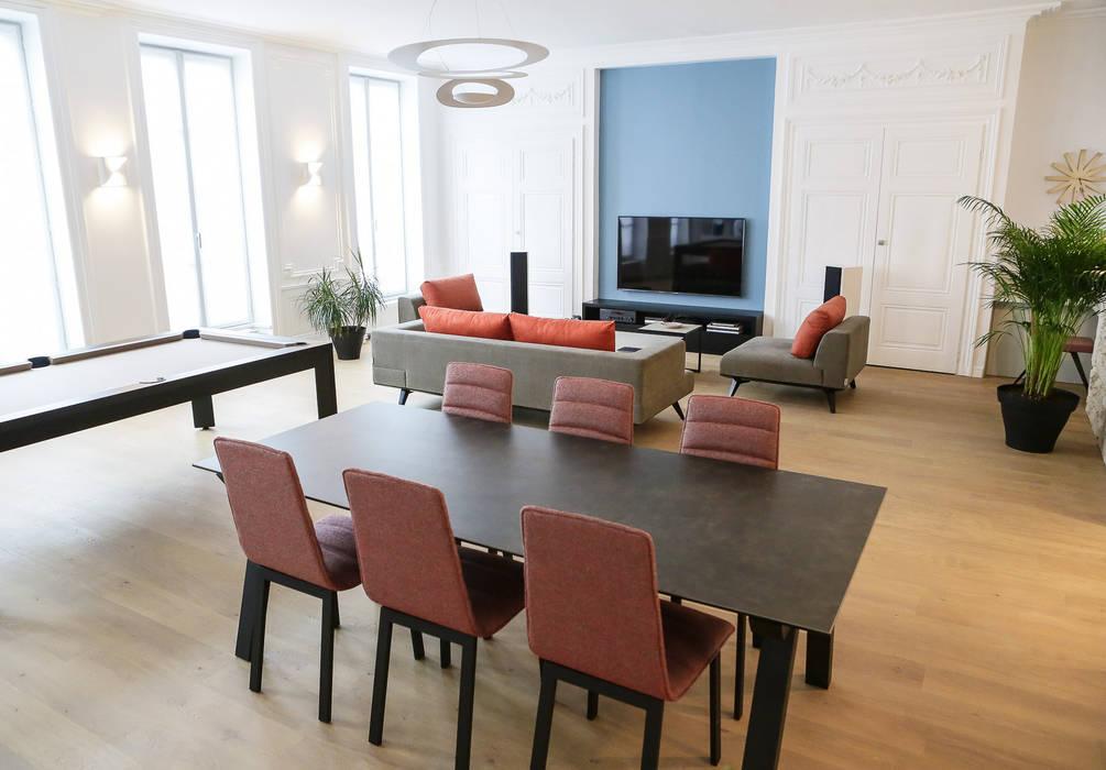 Agencement et aménagement d\'une pièce à vivre: salon de style par ...