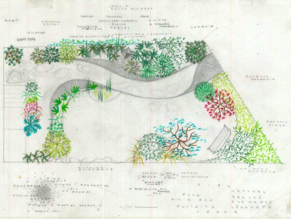 Le Jardin de Mme D., Enghien: Jardin de style de style Moderne par F'CHASTA CRÉATIONS