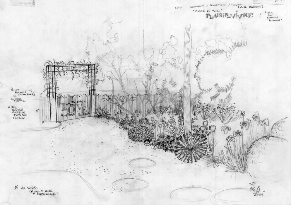 Le Jardin de Mrs B. & Mr G., Deuil-la-B.: Jardin de style de style Moderne par F'CHASTA CRÉATIONS