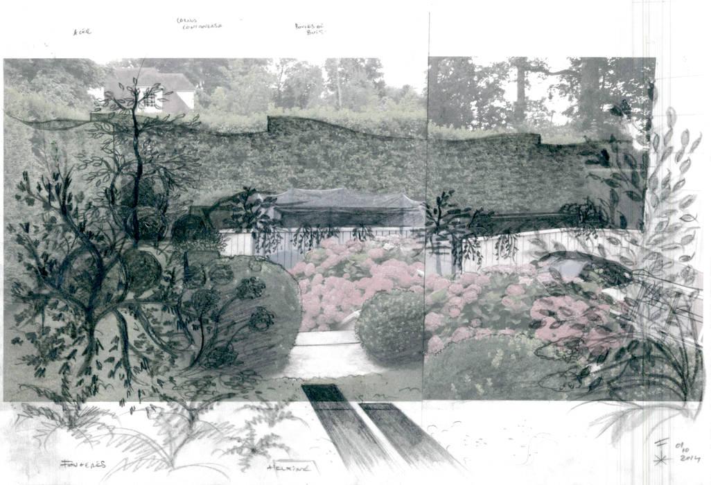 Le Jardin de Mrs & Mr P., Maison-Laffitte: Jardin de style  par F'CHASTA CRÉATIONS