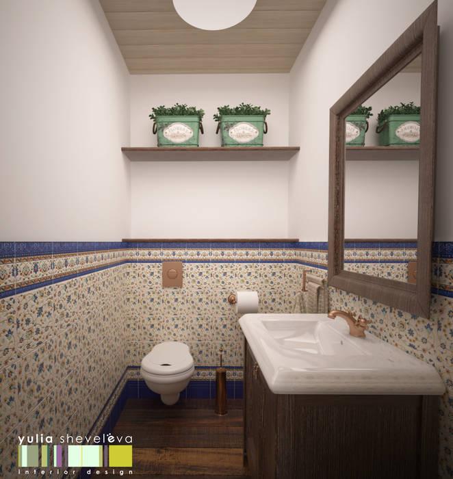 ФРАНЦУЗСКОЕ КАНТРИ: Ванные комнаты в . Автор – Мастерская интерьера Юлии Шевелевой