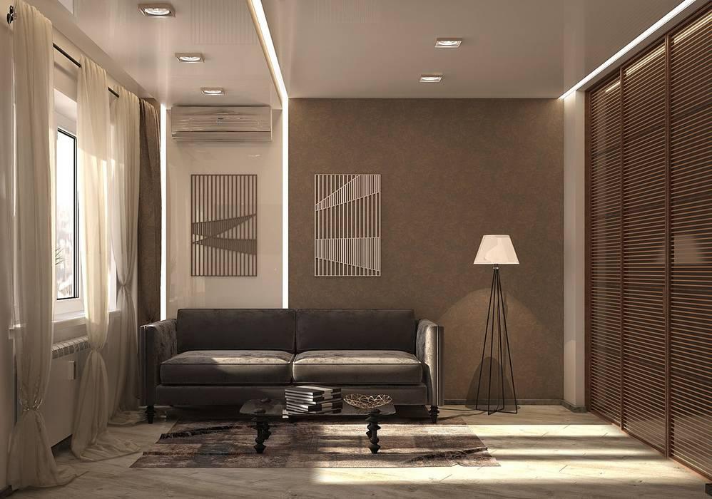 1 к.кв. для парня в ЖК Черемушки 2 (51 кв.м): Гостиная в . Автор – ДизайнМастер