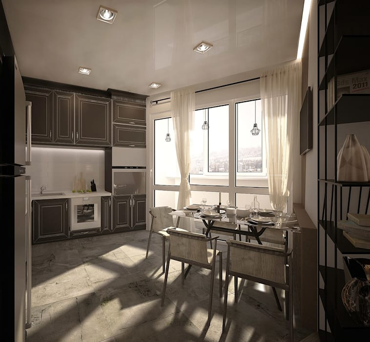 1 к.кв. для парня в ЖК Черемушки 2 (51 кв.м): Кухни в . Автор – ДизайнМастер,