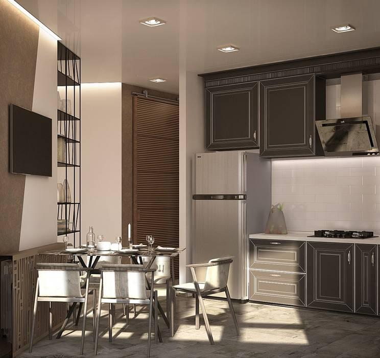 1 к.кв. для парня в ЖК Черемушки 2 (51 кв.м): Кухни в . Автор – ДизайнМастер
