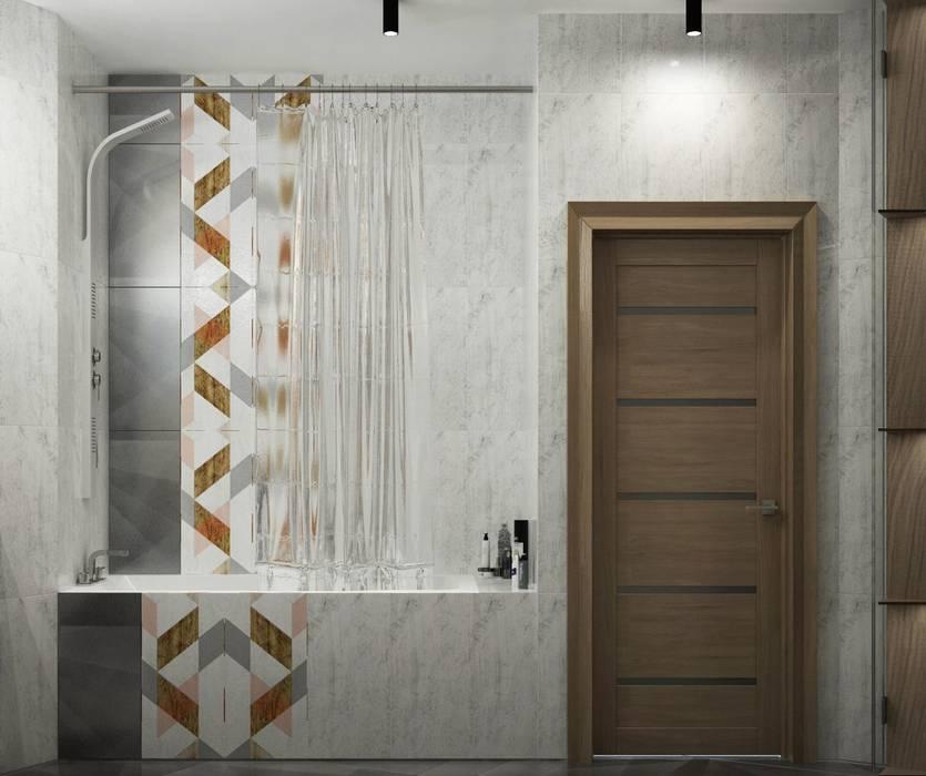 1 к.кв. для парня в ЖК Черемушки 2 (51 кв.м): Ванные комнаты в . Автор – ДизайнМастер