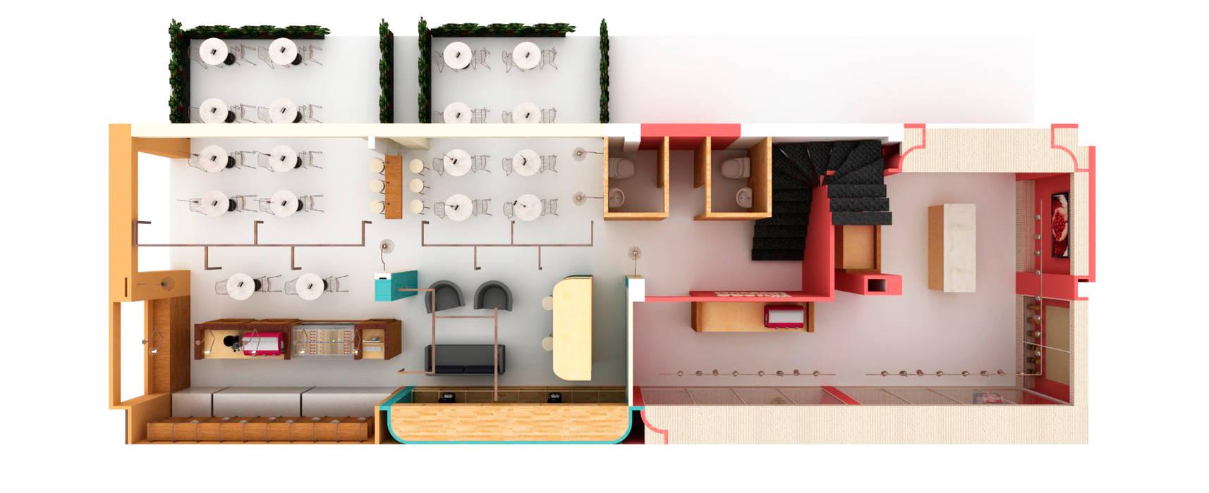 TOUCAN CAFÉ: Bares y discotecas de estilo  por @tresarquitectos,