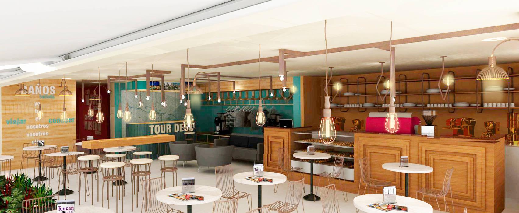 TOUCAN CAFÉ: Bares y discotecas de estilo  por @tresarquitectos, Clásico