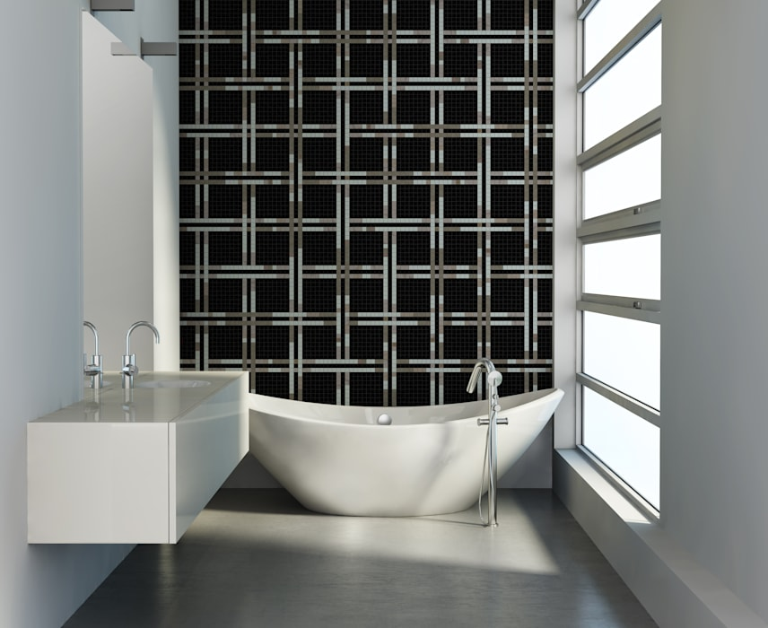 Trufle Mozaiki Walls & flooringTiles Glass Black