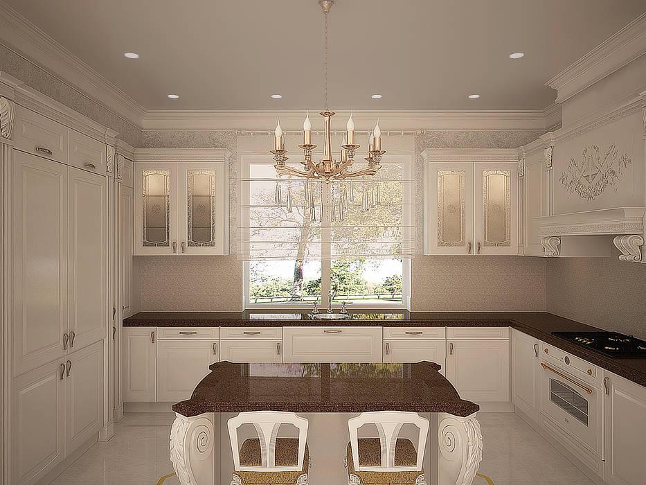 Кухня с островом: Кухни в . Автор – anydesign, Классический