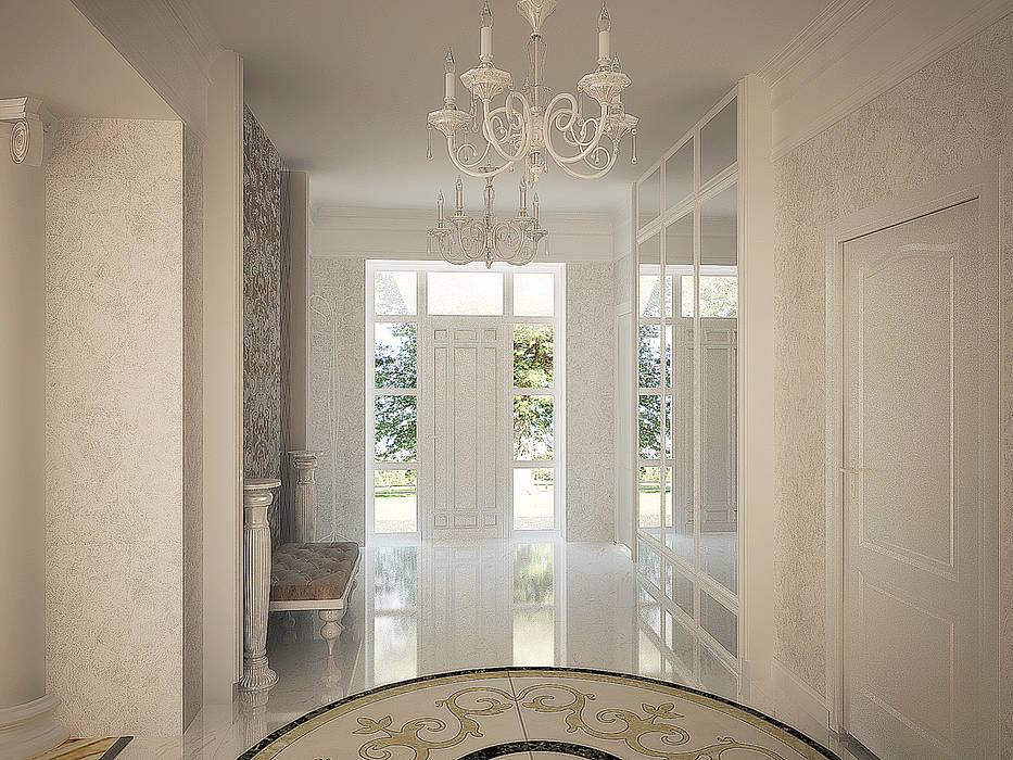 Холл с остекленной входной дверью: Коридор и прихожая в . Автор – anydesign,