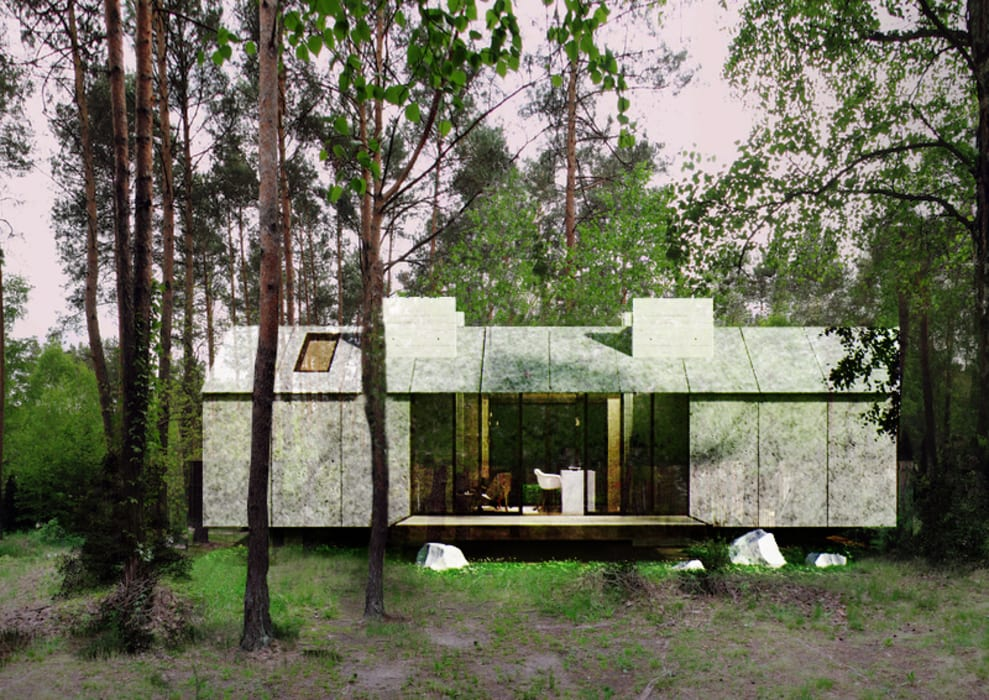 Prototipo Extend _ Viviendas Refugio 27-47-67: Casas de estilo  por @tresarquitectos, Moderno