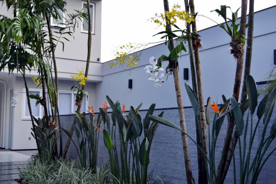 Vườn phong cách hiện đại bởi TM&LH_ arq.arte - Tatiana Moraes e Lucia Helena Hiện đại