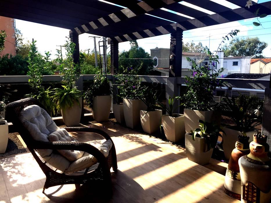 Jardin rustique par TM&LH_ arq.arte - Tatiana Moraes e Lucia Helena Rustique