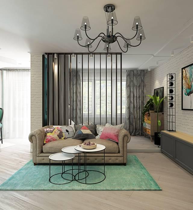 1 к.кв. для девушки в ЖК Черемушки 2 (51 кв.м): Гостиная в . Автор – ДизайнМастер