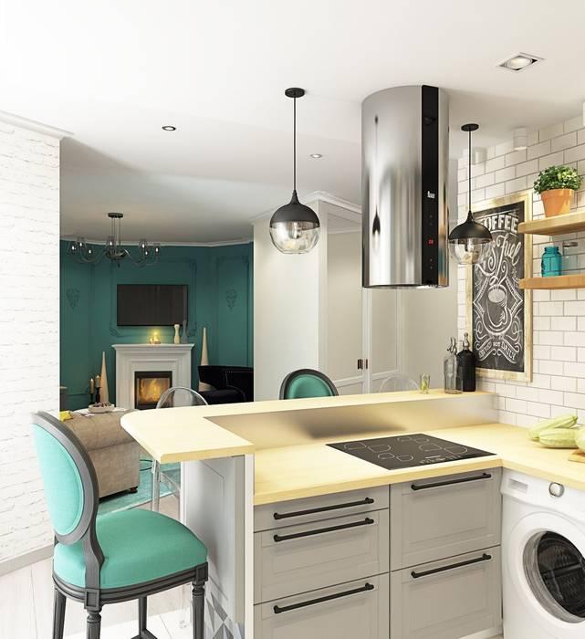 1 к.кв. для девушки в ЖК Черемушки 2 (51 кв.м): Кухни в . Автор – ДизайнМастер